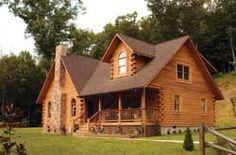 Doe Run Log Home Plan - LogHome.com
