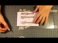 Partial die-cutting with Clearly Besotted dies - YouTube