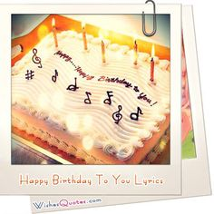 Happy Birthday To You Lyrics