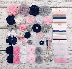 Baby Shower Station,Birthday DIY kits,Headband,hair bow kits,Party supply DIYP