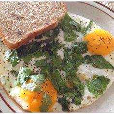 Gym food - eggs and spinach