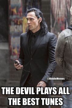 I wonder what kind of music Loki listens to.....