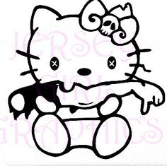 It/'s a Chick/'s Car Girl Hello Honda Beetle kitty chick Decal Sticker VW Scion