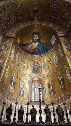 Christ Pantocrator, Palermo Sicily, Old And New Testament, Byzantine Art, Jesus, Gods And Goddesses, Santa Maria, Religious Art, Emilio Pucci