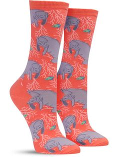 We find the love of puns and an obsession with fun socks often go hand in hand.. which makes these awesome manatee socks perfect for any sea lover. These massive animals consume a crazy amount of food