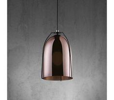Stylische Hängeleuchte in Kupfer und Schwarz - für wohnliches Ambiente