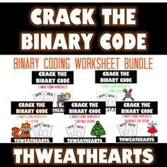 Includes 25 different binary coding worksheets great for elementary students!