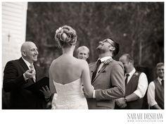 candid wedding ceremony photo, groom laughing, lovely lane chapel wedding saint simons island_005
