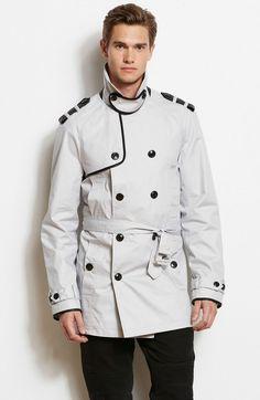 Faux Leather Trim TrenchOnline Exclusive - Jackets & Blazers - Mens - Armani Exchange
