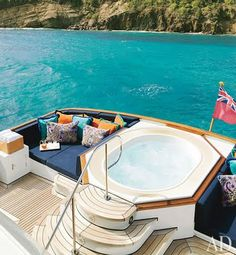 Charter a boat... soak in the hot tub and then jump into the ocean! Perfection!