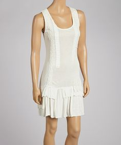 Look what I found on #zulily! Ivory Textured Drop-Waist Dress by Anuna #zulilyfinds