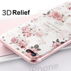 7 Plus 3D Relief Frosted Soft TPU Back Cover Colorful Case For iPhone 7 7 Plus Phone Bag Fundas Capa for Apple iPhone 7