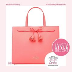 WIN!!!The @arnottsdublin #ArnottsStyleSessions are almost here and to celebrate we have an 8-day countdown of amazing prizes up for grabs! Our second amazing giveaway is this gorgeous @katespadeny spring handbag worth 370! To win this fabulous prize simpl