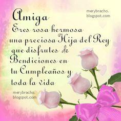 Si estás buscando un lindo mensaje Cristiano de cumpleaños para una amiga, aquí te tengo esta imagen de rosas rosadas con frases Cristianas de cumpleaños. Es un lindo mensaje que puedes dedicar a t…