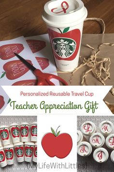Easy Gifts, Homemade Gifts, Personalized Teacher Gifts, Teacher Thank You, Teacher Appreciation Week, Teacher Favorite Things, Cricut Creations, Apple, Elementary Counseling