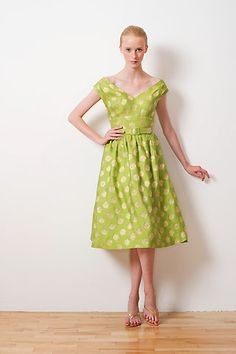 gorgeous! Barbara Tfank Resort 2011 (via @Thea N) #green #dress #summer
