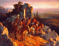 Howard Terpning - Gold Seekers to the Black Hills (Imperfect) - This is one of more than works of art offered by ArtUSA, The World's Source for Collectible Art. Toll-free or Artist Gallery, Fine Art Gallery, Gallery Gallery, Howard Terpning, American Indian Art, American Indians, Early American, Black Hills Gold Jewelry, West Art