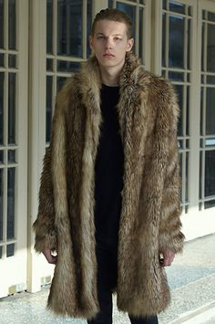 model in fur coat