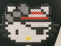 Pirate Kitty- Brooch perler beads by KahYoot