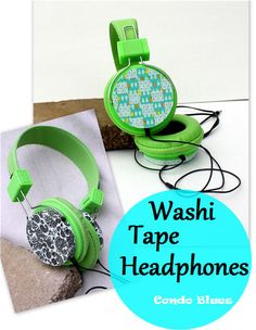 Washi Tape Headphones: Inspired by the book Washi Tape Crafts #washitapecrafts