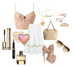 Friday by pinkcrema on Polyvore featuring polyvore, fashion, style, Alexander Wang, Chanel, Karen Millen, Jacquie Aiche, Diane Kordas, Linda Farrow, Guerlain, Too Faced Cosmetics, Chloé, Topshop and Giuseppe Zanotti