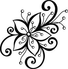 Embroidery Designs For Big Shot Flower Dies Embroidery Designs, Hand Embroidery, Embroidery Stitches, Flower Pattern Design, Flower Patterns, White Flower Tattoos, Flower Doodles, Flower Tattoo Designs, Flower Decorations