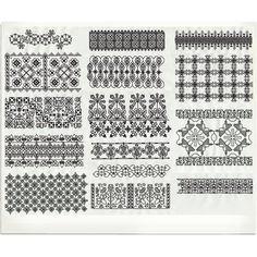 Bertina Studio Embroidery Designs - Elizabethan Blackworkbr /Borders