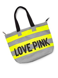 Perfect Beach Tote #VSPINK #Stripes #Neon