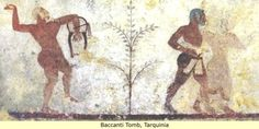 Etruria: The Black Etruscans, Baccanti tomb,Tarquina 5th cent.BC