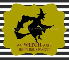 Witch broomstick candy treat bag + free printable