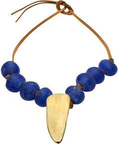 by / natalie frigo Glass Beads & Dagger Necklace