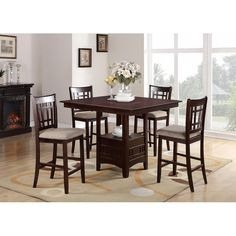 Youu0027ll Love The 5 Piece Counter Height Dining Set At Wayfair   Great Deals