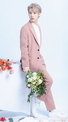 NCT Wallpapers — The most lovely Ntc Dream, Huang Renjun, Pink Suit, Jisung Nct, Na Jaemin, Winwin, Pink Aesthetic, Handsome Boys, Taeyong