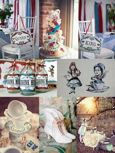 Alice in Wonderland #Wedding Styling Ideas Mood Board from The Wedding Community
