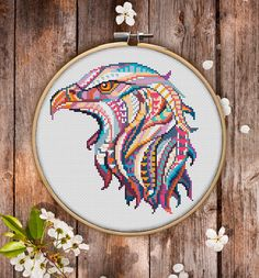 This is modern cross-stitch pattern of Mandala Hawk for instant download. You will get 7-pages PDF file, which includes: - main picture for your reference; - colorful scheme for cross-stitch; - list of DMC thread colors (instruction and key section); - list of calculated thread
