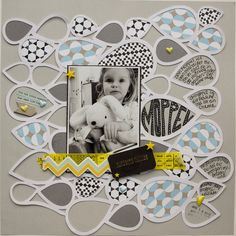 Moppel by Stefanie.Velten at @studio_calico | scrapbook layout made with Silhouette CAMEO
