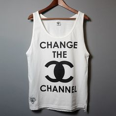 Change the Channel Unisex Tank Top, Polish brand Misbehave  http://misbhv.com/sale.html
