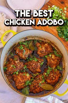 Chicken Recipes Video, Ramen Recipes, Shrimp Recipes, Asian Recipes, Cooking Recipes, Ethnic Recipes, Easy Chicken Adobo Recipe, Meals, Vegans