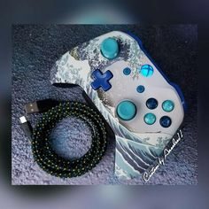 Your place to buy and sell all things handmade Custom Xbox One Controller, Xbox Controller, Star Wars Furniture, Xbox Accessories, Nike Wallpaper, Game Room Design, Game Room Decor, Xbox One S, Cute Gif