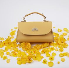 Mini Daisy in Indian Yellow Structured Bag, Cambridge Satchel, Daisy, Joy, Indian, Handbags, Yellow, Mini, Classic
