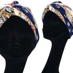 Stampa foulard - Turbante fatto a mano, pezzo unico #turbans #vintage #secondhand #handmade