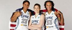 Lynx players maya Moore Lindsey Whalen and Simone augustus