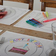 Tischsets zum Bemalen - Geschenke von Geschenkidee