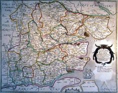 A New Mapp of the County of Essex , with the Post and Cross Roads,  other remarks  according to the latest and best Observations. 1605 William Smith (this edition-Henry Overton, 1751)