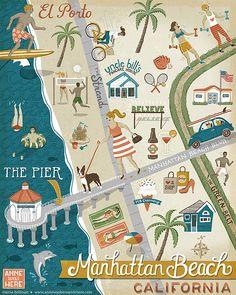 Map of Manhattan Beach on Behance