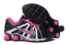 huge selection of d45f8 237b6 Nike Shox Roadster V12-2 Sort Pink Grå Dame Nike Outfits, Workout Outfits,