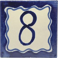 Street numbers from Mexico handmade of talavera tiles look great on the house exterior. They are decorative making locating a property easy. Painting Ceramic Tiles, Street House, House Numbers, Hand Painted Ceramics, Wall Tiles, Rustic, Elegant, Handmade, Decor
