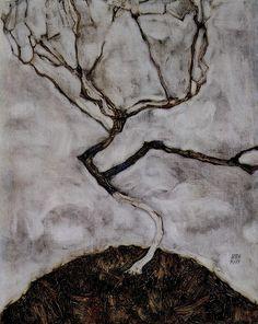 Schiele, Landscape tree