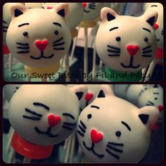 Our Kitty Cat cake pops #oursweetbites Like us on Facebook rsweetbites@gmail.com