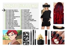 """30 Day Naruto Challenge: Day 1 Gaara"" by harrypotter-gurl ❤ liked on Polyvore featuring Ella Moss, NARS Cosmetics, Marc Jacobs, Tuttle and Gucci"